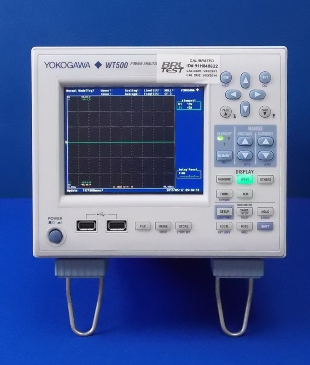 In stock and for sale - Yokogawa WT500 Power Recorder