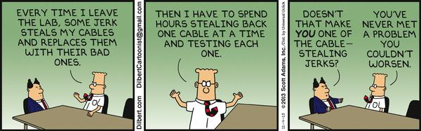 Dilbert - Cable Theft