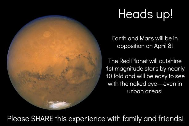 Check out Mars on April 8th!